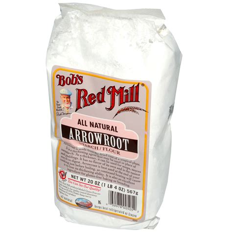 bob s red mill arrowroot starch flour all natural 20 oz 567 g iherb com