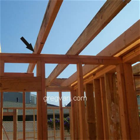 framing tips ceiling joist attached to interior wall