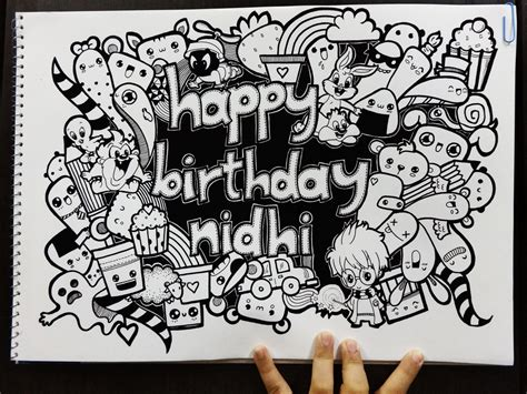 how to draw a doodle names birthday doodle by piccandle on deviantart