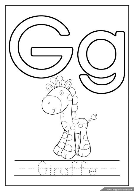 letter g giraffe coloring page printable alphabet coloring pages letters a j