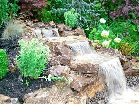 how to make a backyard waterfall outdoor waterfall long island good some plant green color