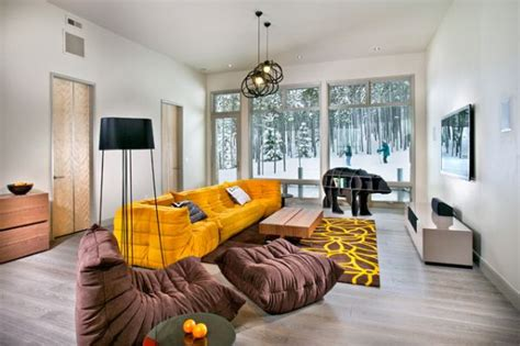 mustard living room mustard and chocolate covered rooms ideas inspiration