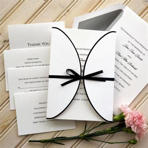 custom wedding invitations thermography ribbon wedding invitation set raised thermography
