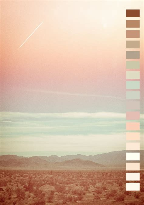 colors from nature landscape pink colors nature peach mint color palette