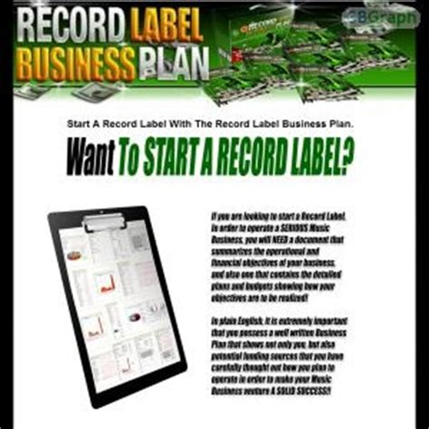 download free record label business plan free template