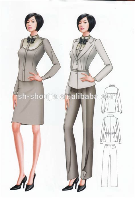 design clothes business customized fashion business suits for women ladies girls