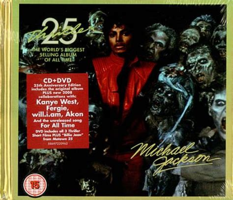 Thriller 25th Anniversary Edition Album Cover Michael Jackson Works With Akon Fergie William Kanye West For 212 Re Release by Michael Jackson Thriller Deluxe 25th Anniversary Edition