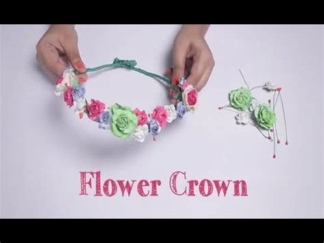 How To Make A Flower Crown Out Of Paper - diy flower crown paper craft