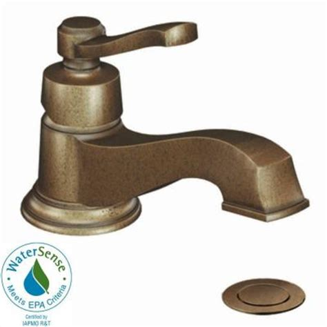 antique bronze bathroom faucet moen rothbury single 1 handle low arc bathroom faucet in antique bronze s6202az the home