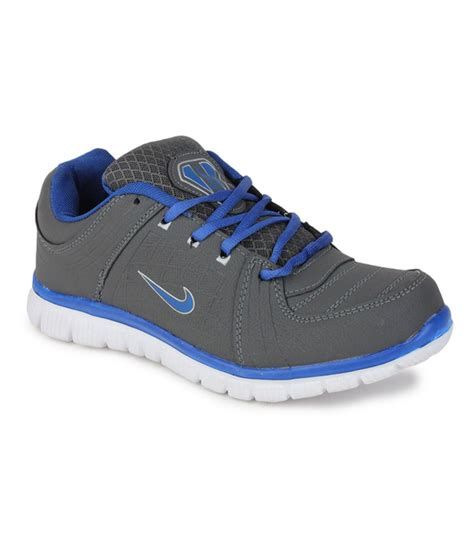 leo sport shoes leo max gray lace synthetic leather running sport shoe
