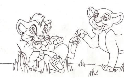 lion king kovu and kiara coloring pages kovu and kiara lineart 661 x 417 44 kb jpeg courtesy of