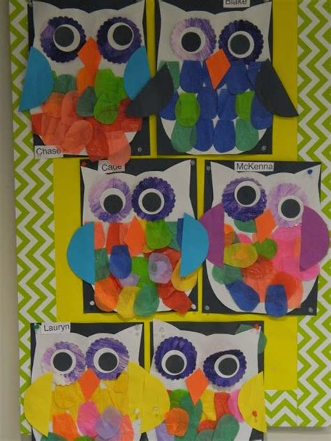 kindergarten lesson on texture and pattern owls preschool owls preschool pinterest circles owl
