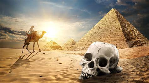 Fonds d'écran Pyramide égyptienne, désert, crâne, chameau ... Iphone 5c Green Wallpaper