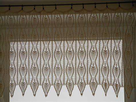 crochet curtain valance crochet curtain lace window valance