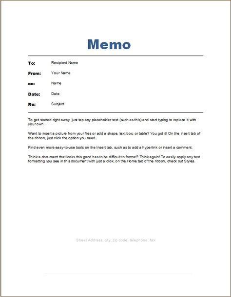 Employee Memo Template Word Excel Templates Employee Memo Template