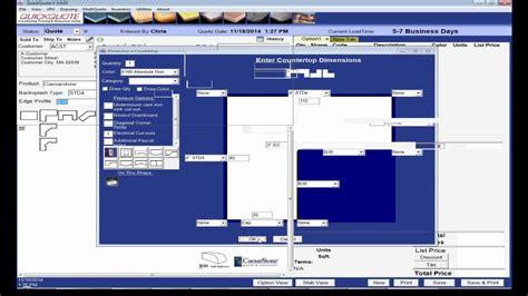 quickquote countertop software overview