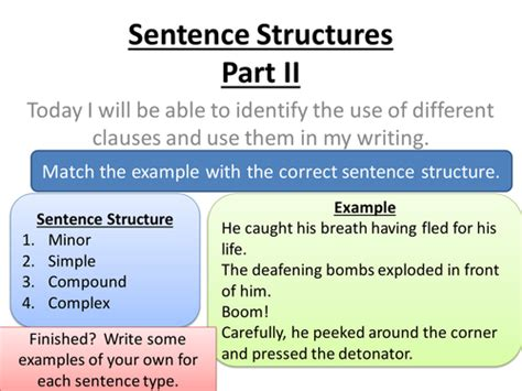 sentence structure sentences lesson by lessonchest uk teaching resources tes