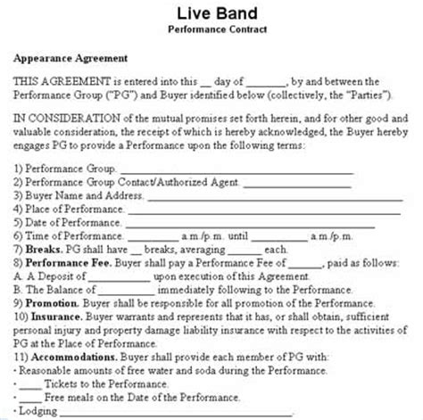 negotiating gig payment for your live band get a signed
