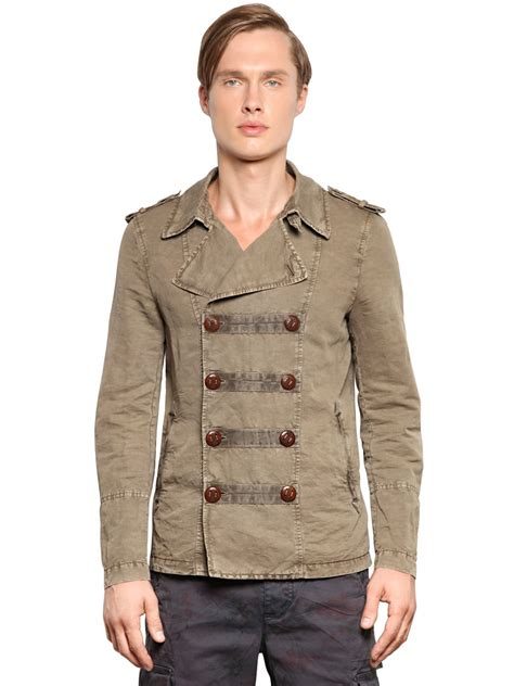 Quisha Jaket Canvas Linen Rubiah corto maltese linen cotton canvas colonial jacket in for lyst