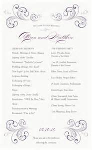swirl wedding program