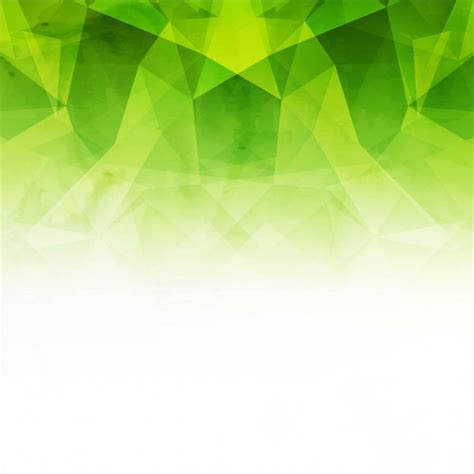 green and white polygonal background vector free