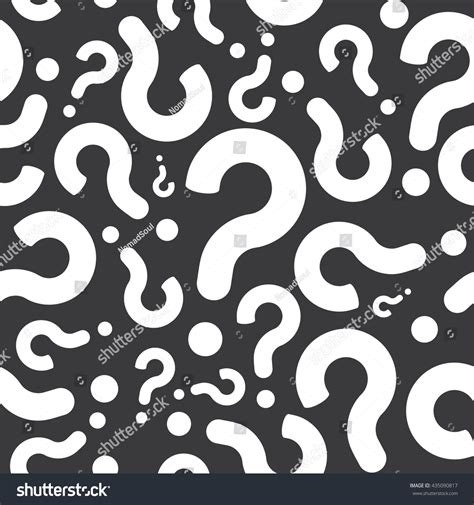 question pattern vector seamless question mark pattern background stock vector