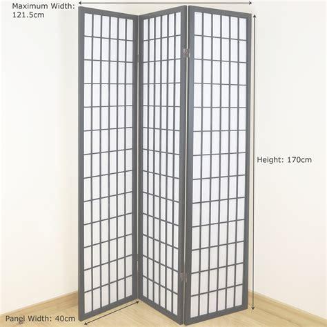 japanese room screen black white 3 panel shoji folding privacy screen japanese wooden room divider ebay