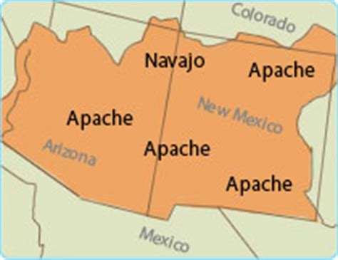 american apache map the apache american project
