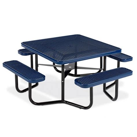 picnic table frame square expanded steel table portable frame picnic