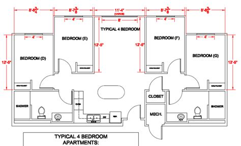 Park Place Apartments Floor Plans by Panther Village Department Of Residence