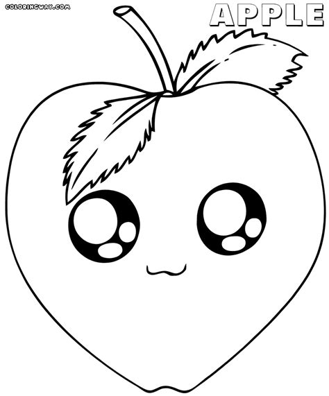 coloring pages food with faces kawaii food with faces coloring pages