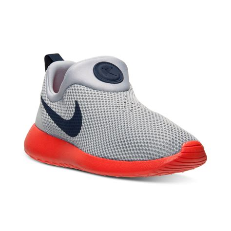 Nike Rosherun Slip On lyst nike mens roshe run slip on casual sneakers from