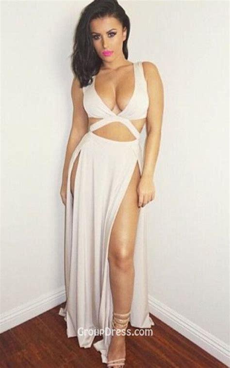 Limited Bilbao Dres Casual Dress Dress Slit slit sleeveless prom dress plunging v neck