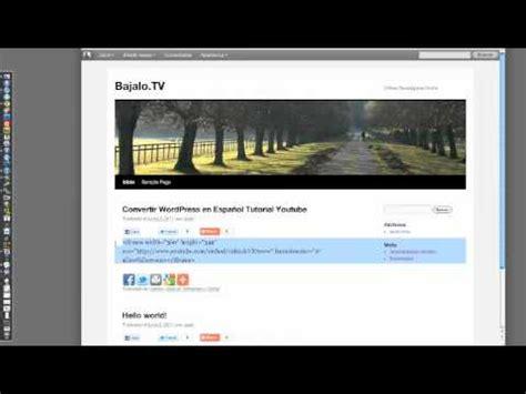 Youtube Tutorial On Wordpress | como insertar video de youtube en wordpress tutorial youtube