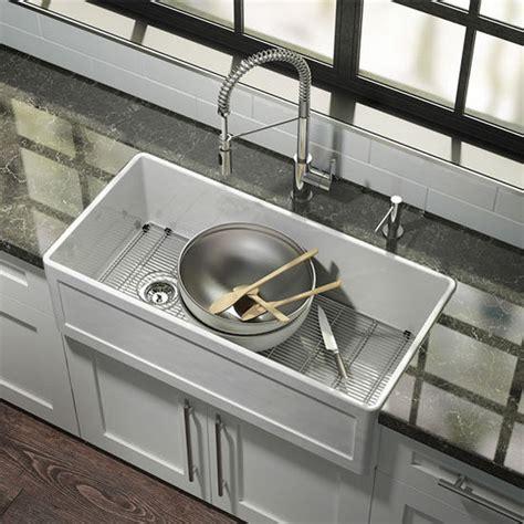 38 Inch Kitchen Sink by Fira Collection Single Undermount Fireclay Kitchen Sink W