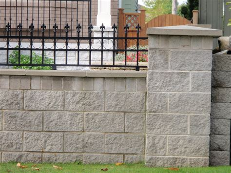 Cmu Residential Fence Walls Basalite Garden Wall Security