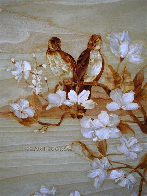 Marquetry, Model: Birds   Custom Wood, Stone Flooring