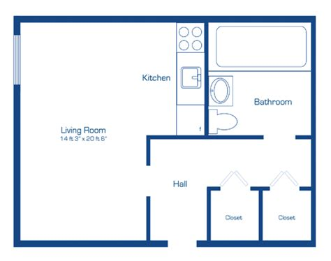 floor plan of a bachelor flat apartments near the rideau canal downtown ottawa