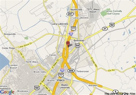 where is waco texas located on the map map of knights inn waco waco