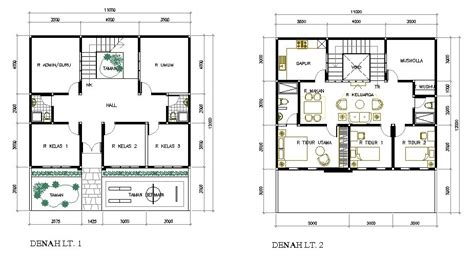 denah ruang kelas tk desain rumah minimalis desain rumah sekolah