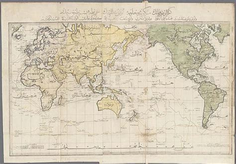 ottoman map of the world ottoman printed world map in mercator s projection mavi