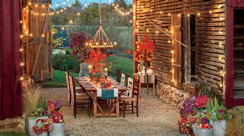 southern living fall decor fall s best outdoor rooms southern living