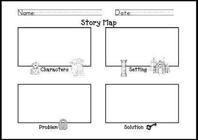 story maps mrs shehan s retell form or story map story elements graphic organizers