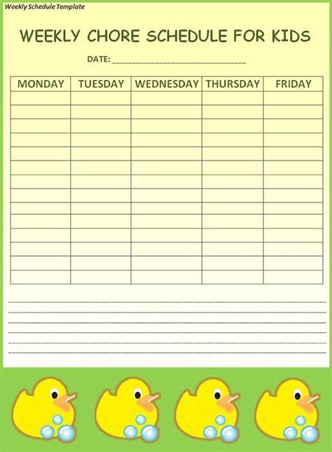 weekly schedule template   word excel    premium templates