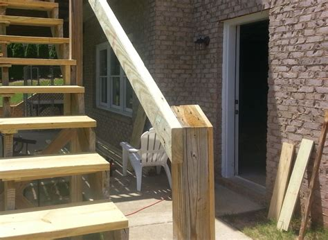 Banister Repair by Replace Deck Stair Railing Repair Deck Railing And Stair