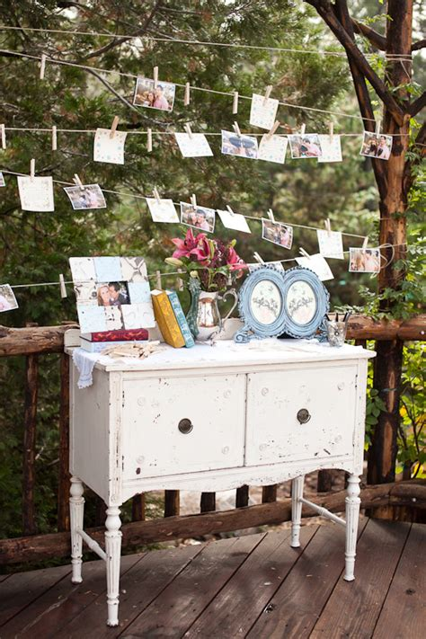 diy shabby chic photo display emmaline bride