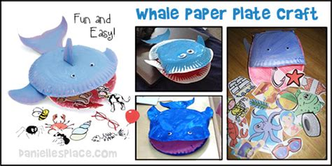 Whale Paper Plate Craft - danielles place of crafts and activities crafts for
