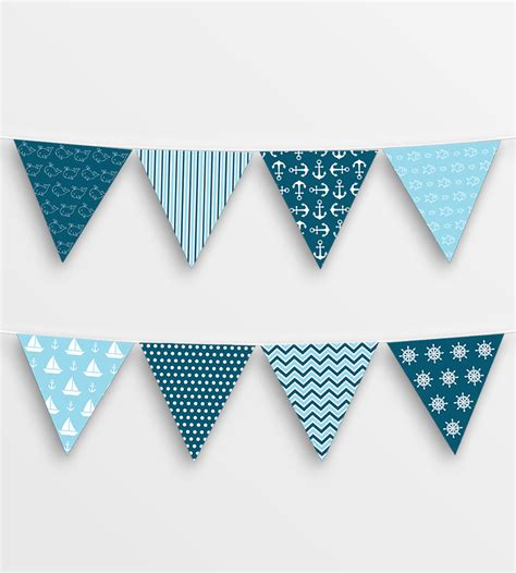 printable bunting flags printable nautical bunting blue peculiar printables
