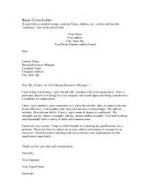 Basic Resume Cover Letter by Basic Sle Cover Letter The Best Letter Sle