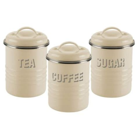 typhoon 174 vintage kitchen cream 3 canister set